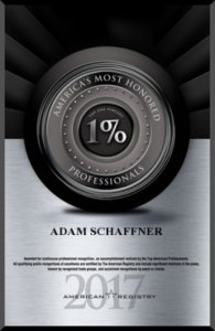Honoree Americas Most Honored Professionals 2017 - Top 1 percent